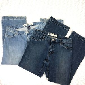 Gap Jeans Long And Lean Stretch 2 Pair 6 A Ankle